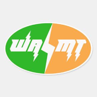 Autocollant de logo de tonnerre de l'équipe WAMT