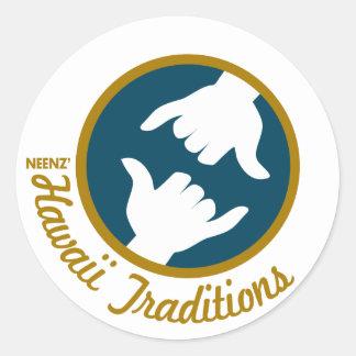 Autocollant de logo de traditions d Hawaï
