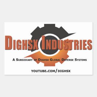 Autocollant de logo d'industries de Dighsx