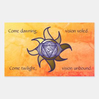Autocollant de Lotus d'analyse de yoga de