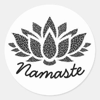 Autocollant de Lotus Namaste de yoga