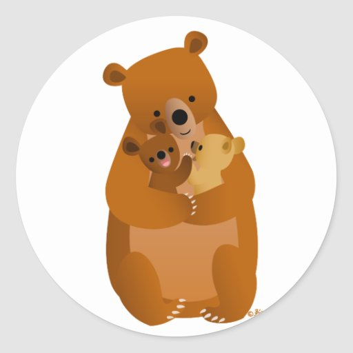 Autocollant de maman Bear