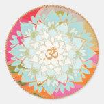 Autocollant de mandala de symbole de fleur et de l