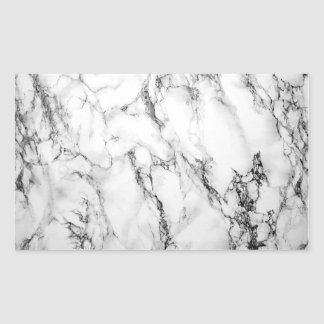 Autocollant de marbre noir et blanc