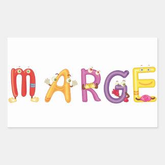 Autocollant de Marge