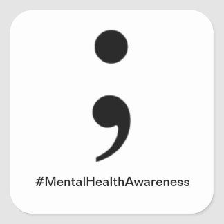 Autocollant de #MentalHealthAwareness