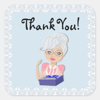 Autocollant de Merci de baby shower de grand-mère