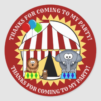 Autocollant de Merci de carnaval de cirque