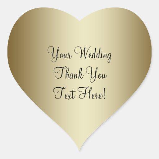 Autocollant de Merci de faveur de mariage d'or
