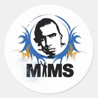 Autocollant de MIMS - image de MIMS encadrée - exc