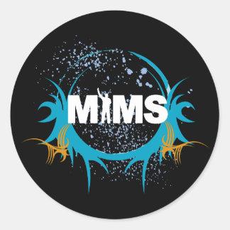 Autocollant de MIMS - logo de MIMS encadré - exclu