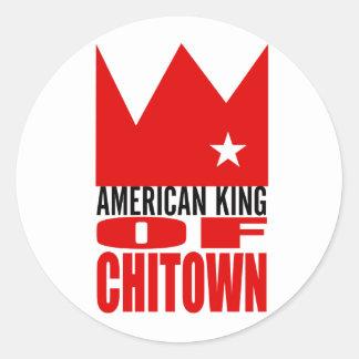 Autocollant de MIMS - roi américain de Chi-Ville