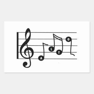 Autocollant de musical de chanteur d'alto