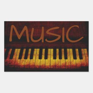 Autocollant de musique de piano