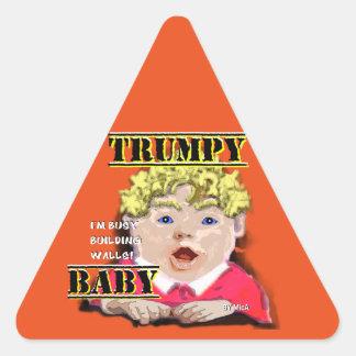 Autocollant de panneau routier de bébé de Trumpy