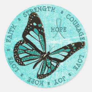 Autocollant de papillon de force d'espoir de