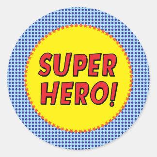 Autocollant de partie de super héros