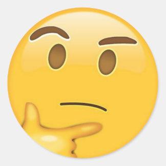 Autocollant de pensée d'Emoji