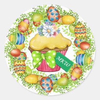 Autocollant de petit gâteau de Pâques