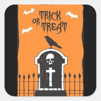 Autocollant de pierre tombale de Halloween