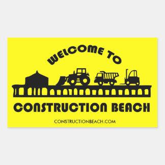 Autocollant de plage de construction