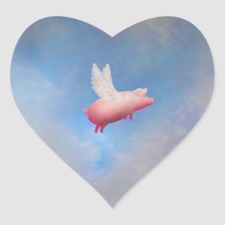 Autocollant de porc de vol