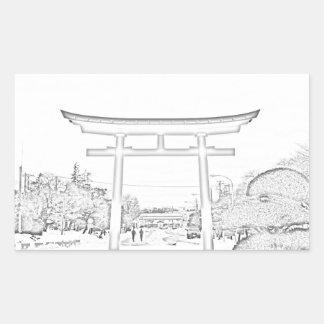 Autocollant de porte de Torii de Japonais