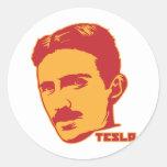 Autocollant de portrait de Nikola Tesla