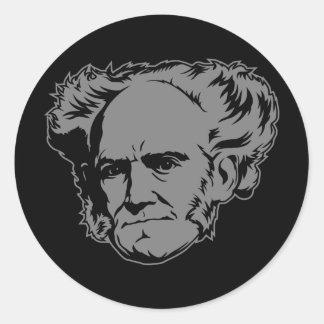 Autocollant de portrait de Schopenhauer