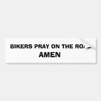 Autocollant de prière de cycliste