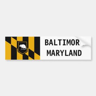 Autocollant de rat de ville de charme de Baltimore