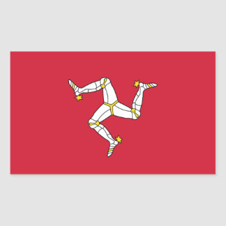 Autocollant de rectangle avec le drapeau d'île de