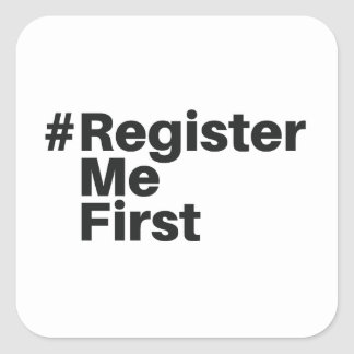 Autocollant de #registermefirst (1)