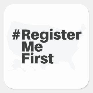 Autocollant de #registermefirst (2)