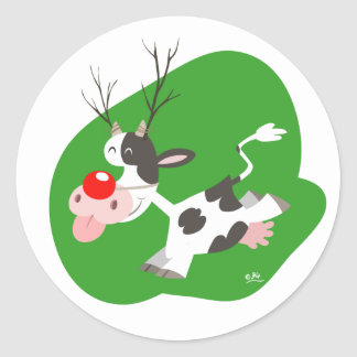 Autocollant de renne de Noël