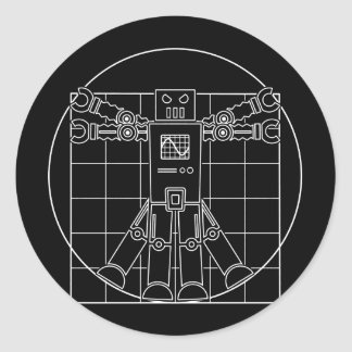Autocollant de robot de da Vinci Vitruvian