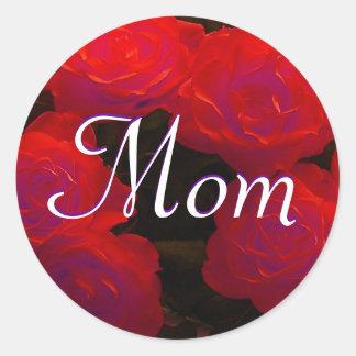 Autocollant de roses rouges de maman
