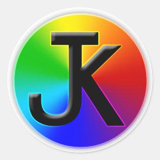 Autocollant de roue de couleur de JK