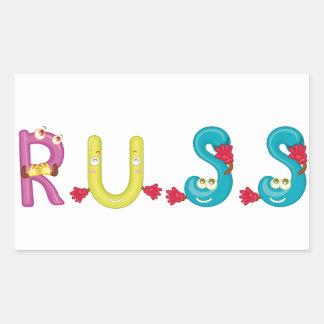 Autocollant de Russ