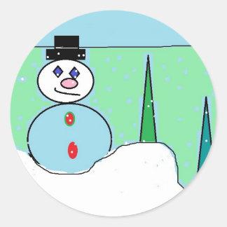autocollant de scène de neige