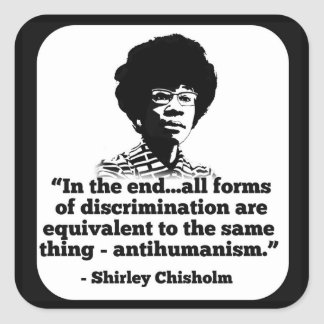 Autocollant de Shirley Chisholm
