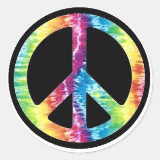 Autocollant de signe de paix de colorant de