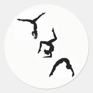 Autocollant de silhouette de gymnastique