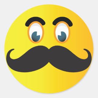 Autocollant de smiley de moustache