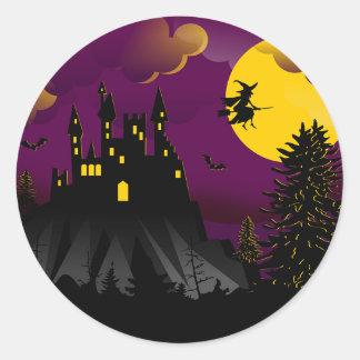 Autocollant de sorcière de Halloween