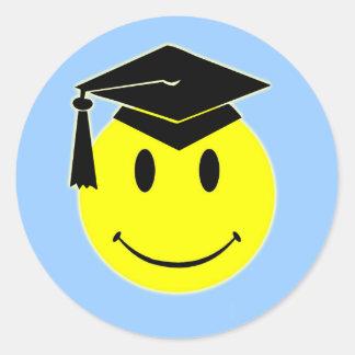 Autocollant de sourire d'obtention du diplôme