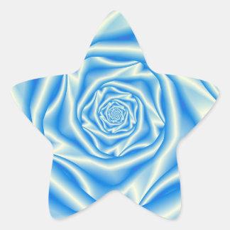Autocollant de spirale de rose de bleu