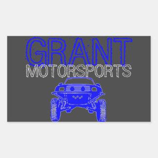 Autocollant de sport mécanique