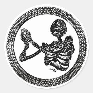Autocollant de squelette de plancher d'église de