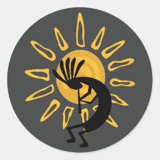 Autocollant de sud-ouest de Sun d'or de Kokopelli